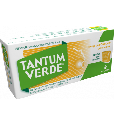 Tantum Verde® Pastillen Honig- und Orangengeschmack